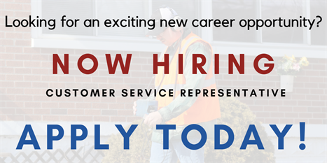 Looking for an exciting career opportunity? Now hiring customer service represenative.