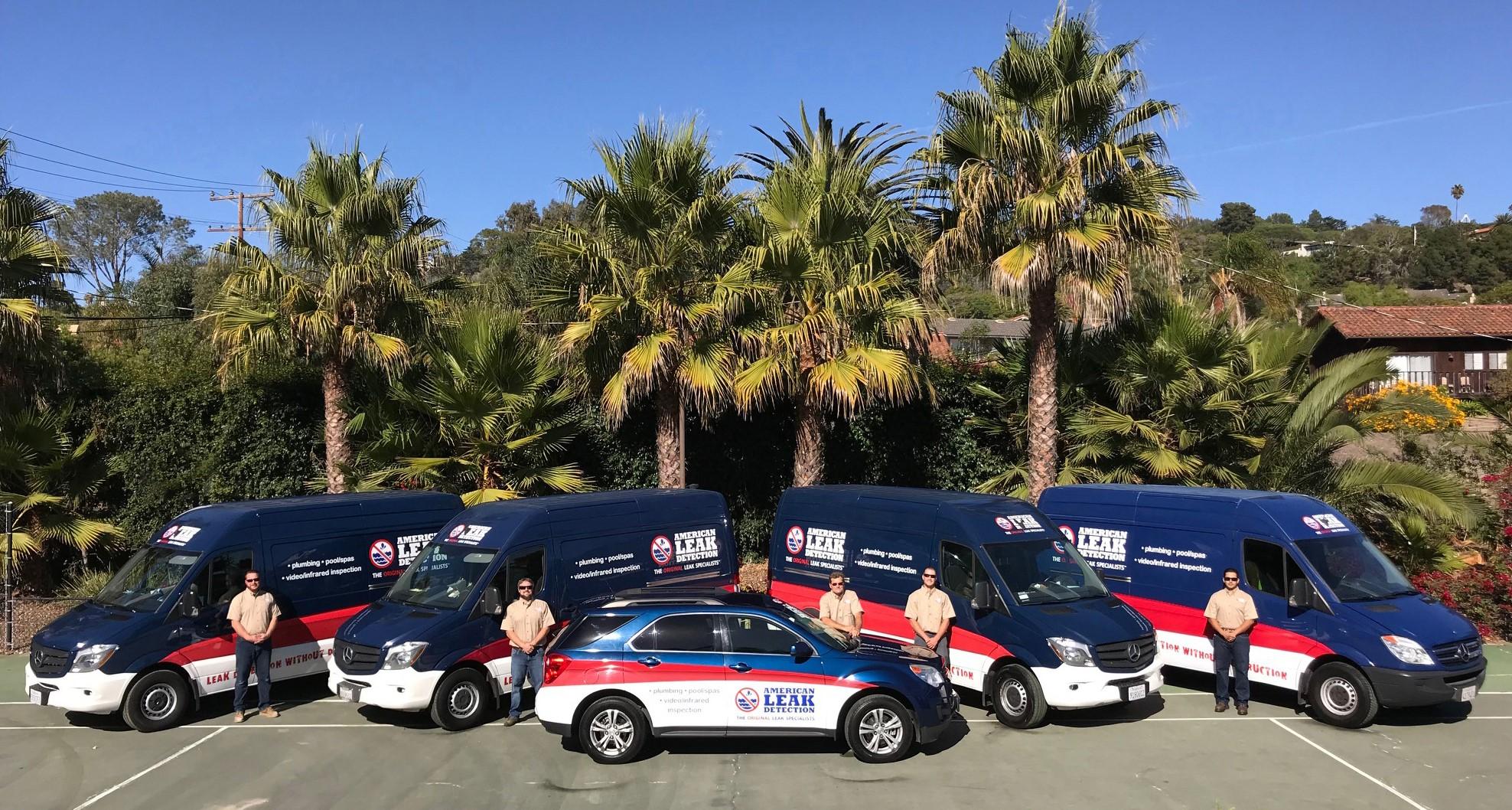 Santa Barbara Fleet Of Trucks
